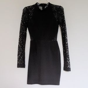 Astr lace back mini dress